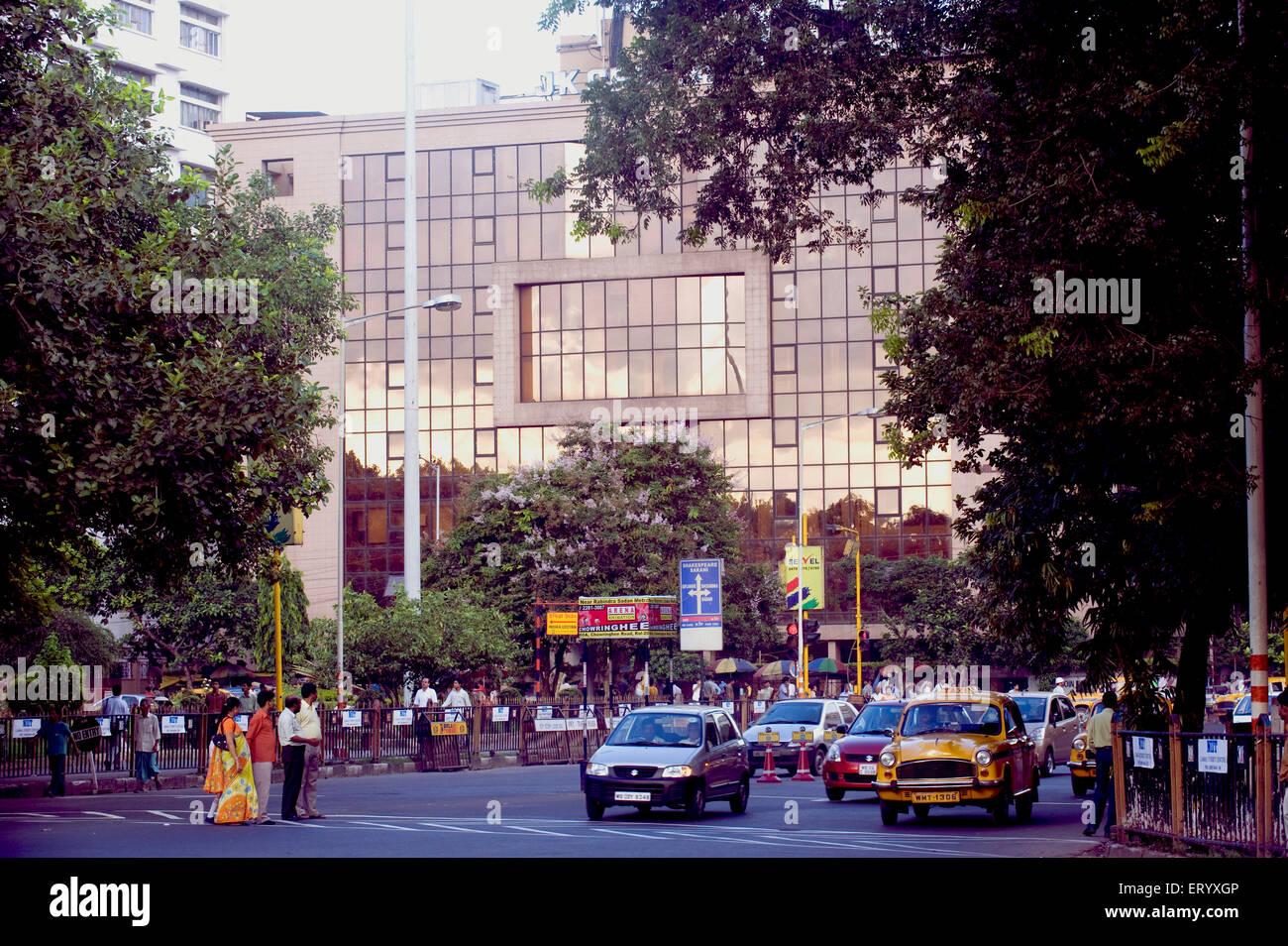 Scena di traffico ; cittadino il park ; Kolkata Calcutta ; Bengala Occidentale ; India Immagini Stock
