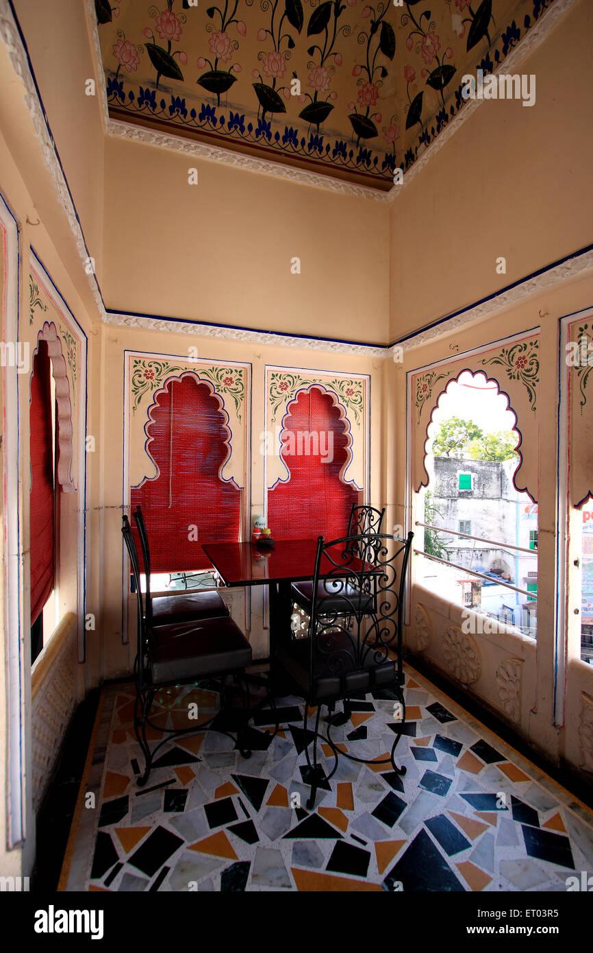 Decorazione di Rajasthani ; Rajasthan ; India Immagini Stock