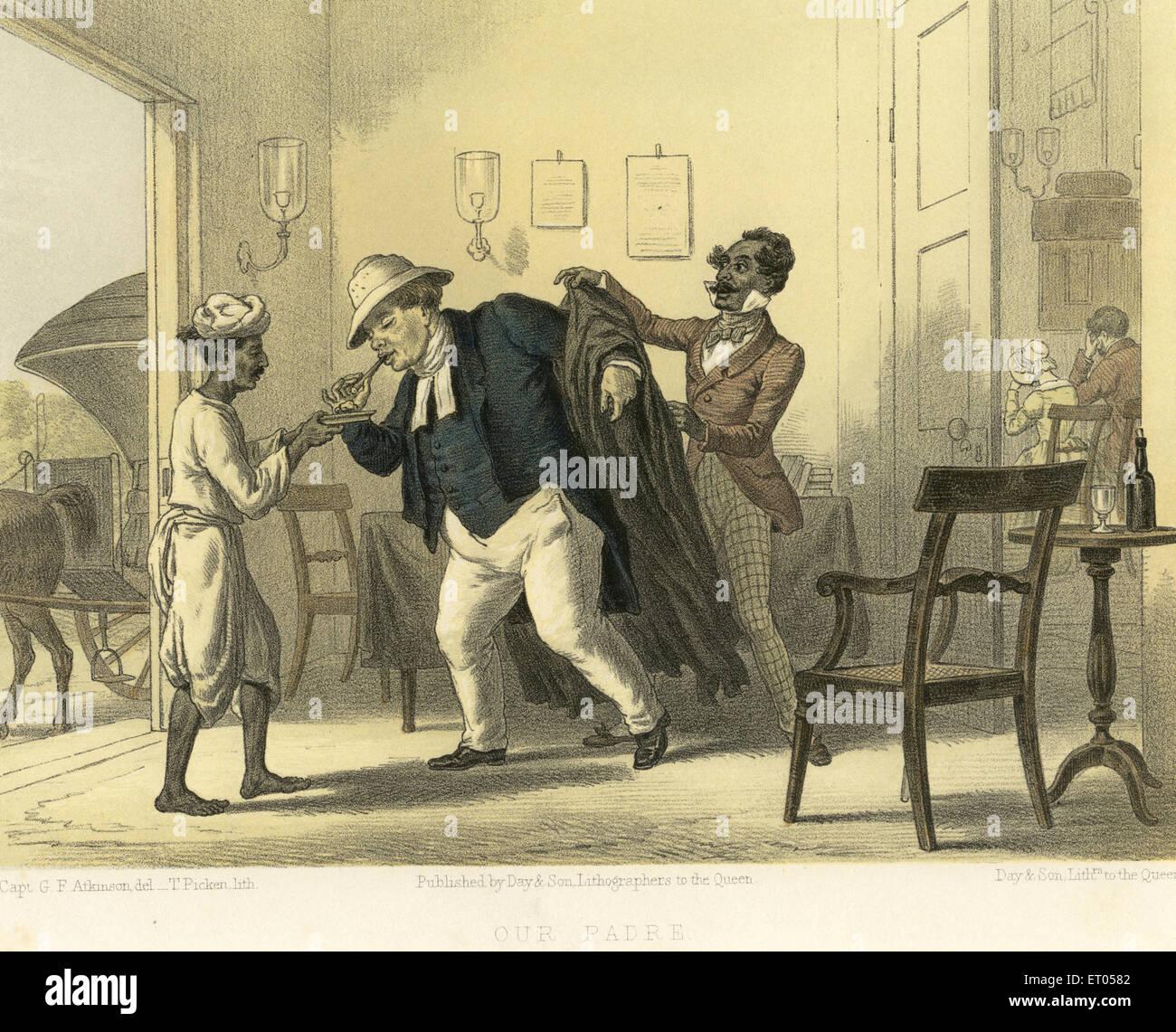 Indiana coloniale immagini ; il nostro padre ; India Immagini Stock
