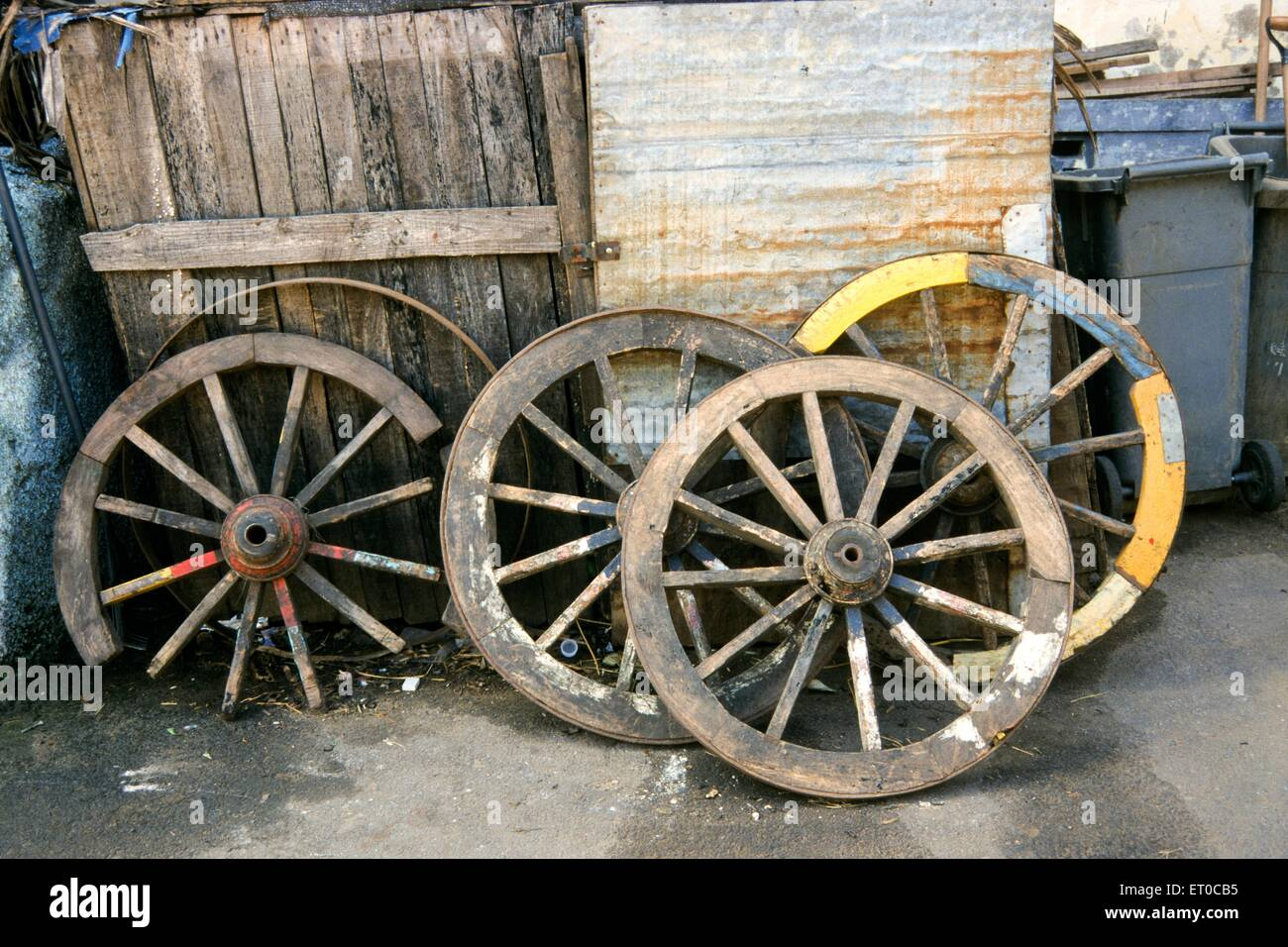 Carrello ruote ; Madras Chennai ; Tamil Nadu ; India Immagini Stock