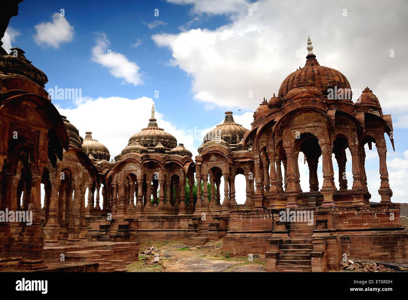 Cenotaphs di marwar rajput maharaja ; Jodhpur; Rajasthan ; India Immagini Stock