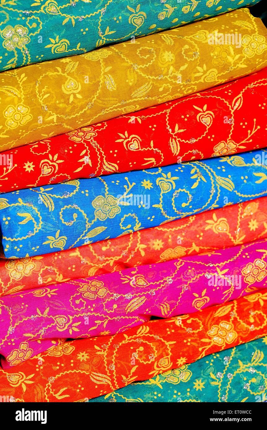 Rajasthani bandhej tessile ; Rajasthan ; India Immagini Stock