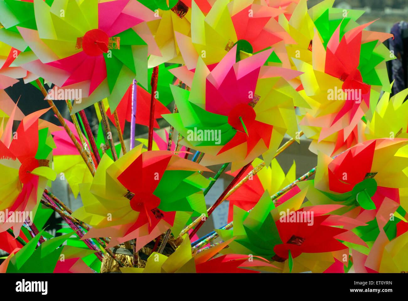 Carta colorata ruote Immagini Stock