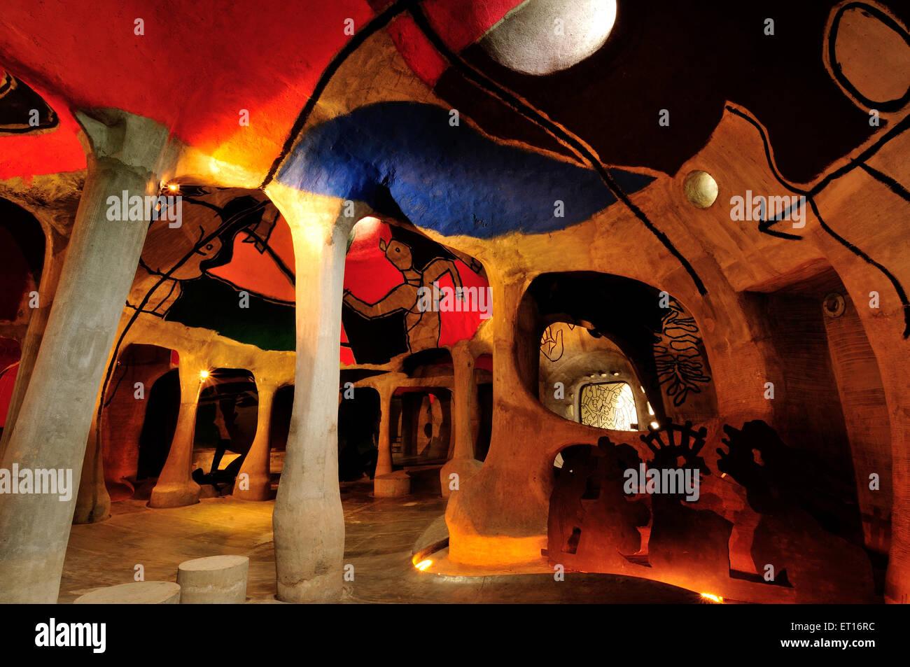 Hussain Doshi Gufa ni Ahmedabad Gujarat India Asia Immagini Stock