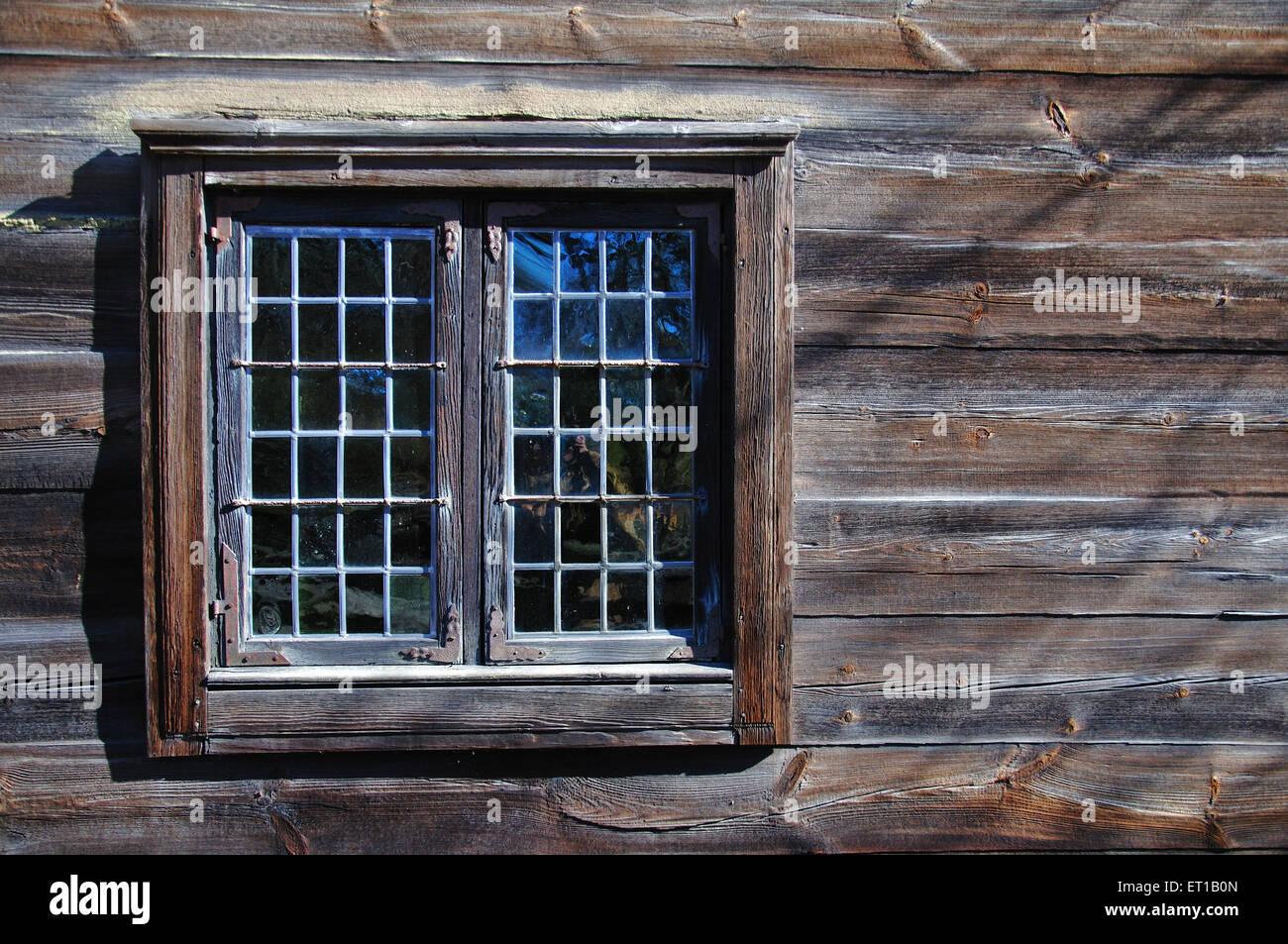 Finestra skansen Stoccolma Svezia Immagini Stock