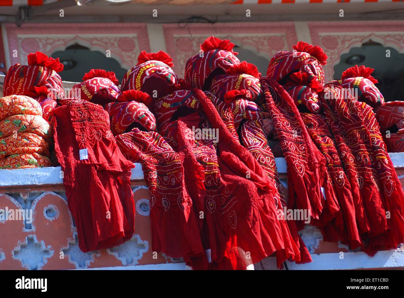 Rajasthani indiano turbanti Jaipur Rajasthan India Asia Immagini Stock