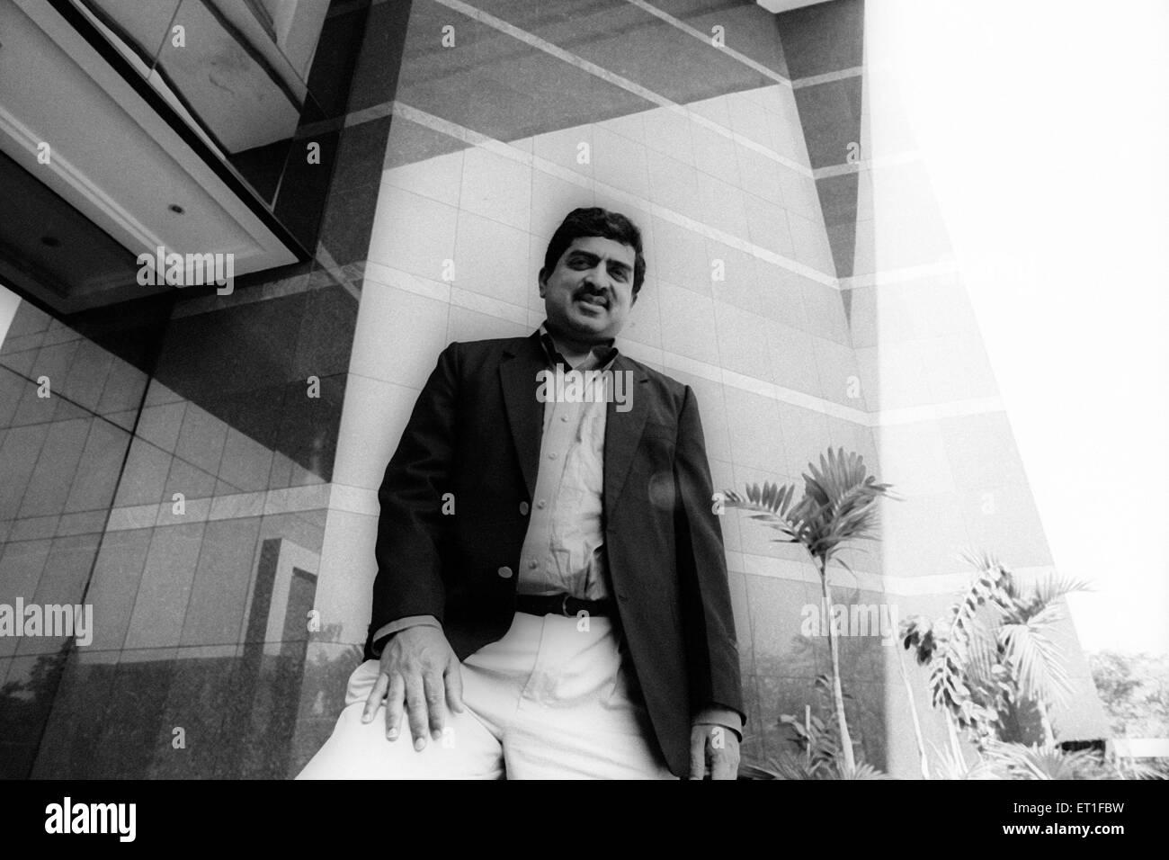 Amministratore Delegato e Direttore di Infosys Nandan Nilenkani n. MR Immagini Stock