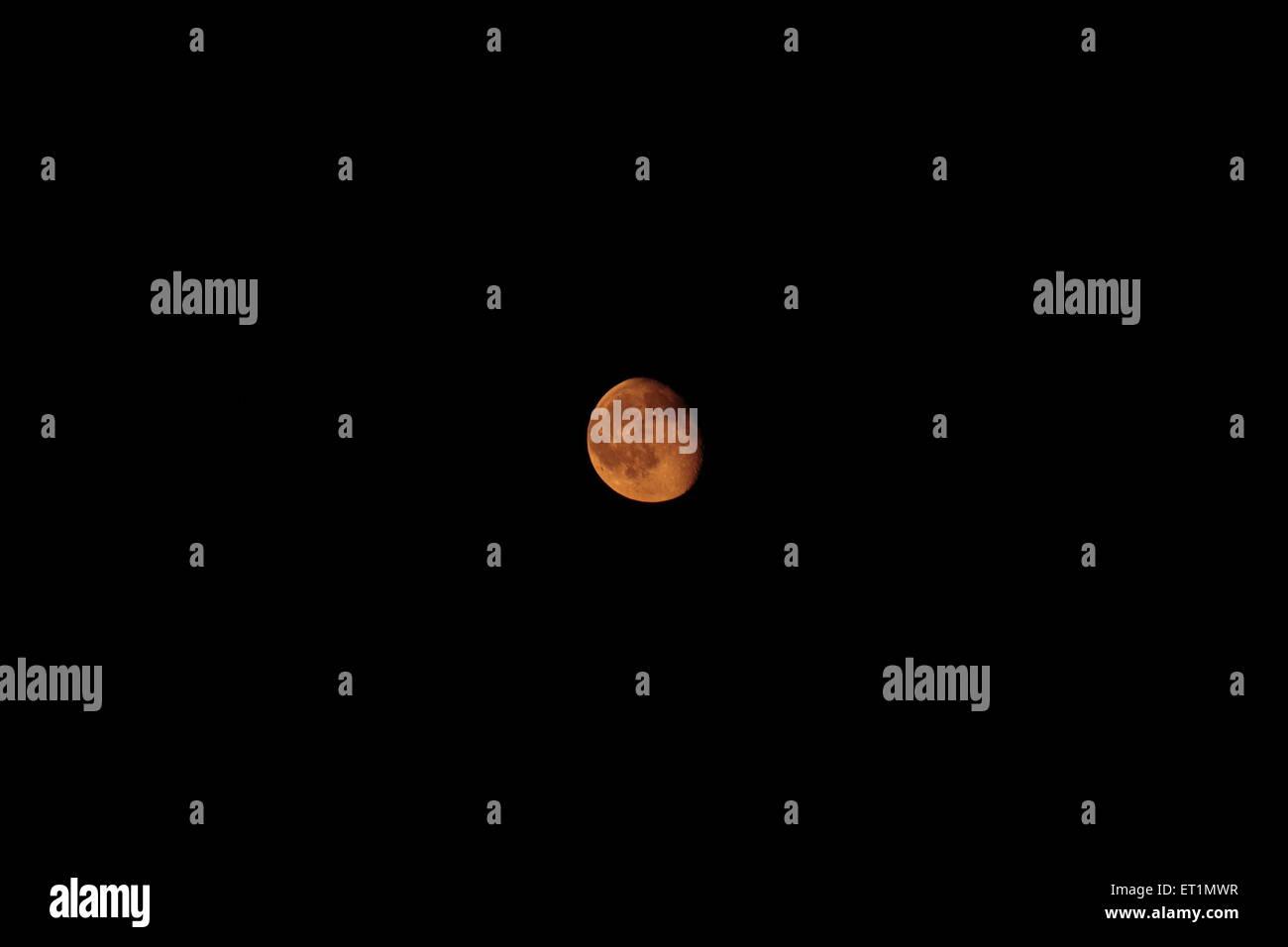 Red Moon nel cielo (Luna Rossa nel cielo) Immagini Stock
