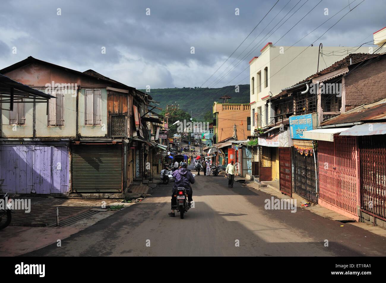 Strada a Samara Maharashtra India Asia Immagini Stock