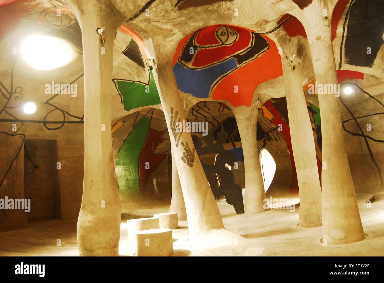 Hussain Doshi nee gufa in Ahmedabad Ahmebabad INDIA Immagini Stock