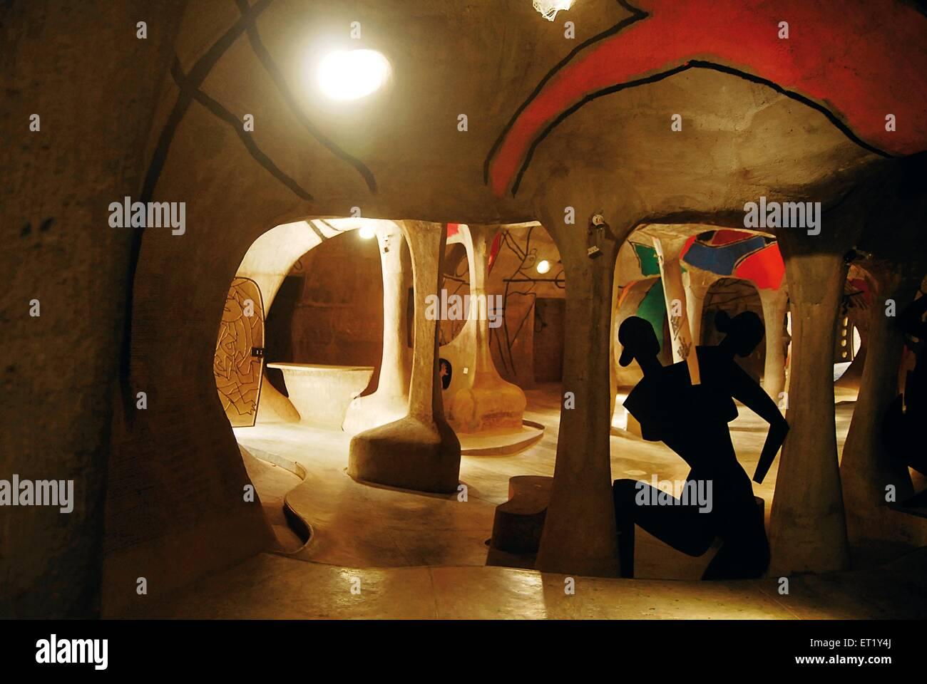 Interno di Hussain doshi ni museo gufa Ahmedabad Gujarat India Asia Immagini Stock