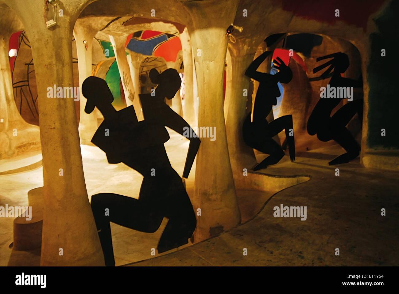Hussain doshi ni museo gufa Ahmedabad Gujarat India Asia Immagini Stock