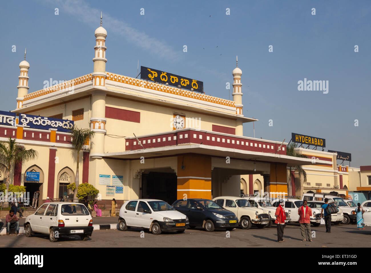 Hyderabad stazione ferroviaria Immagini Stock