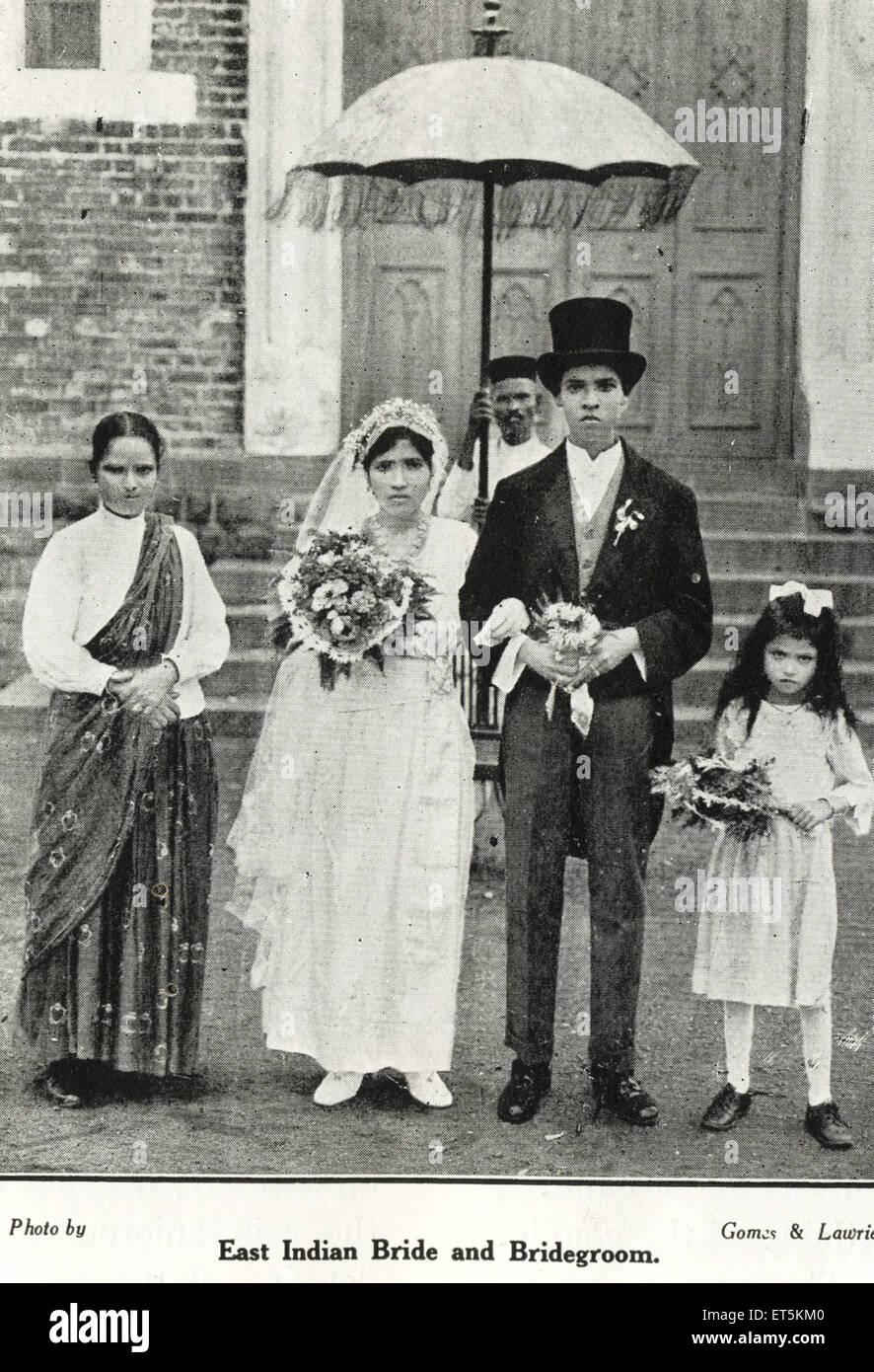 La comunità cattolica indiana est sposa e lo Sposo ; India n. MR Immagini Stock