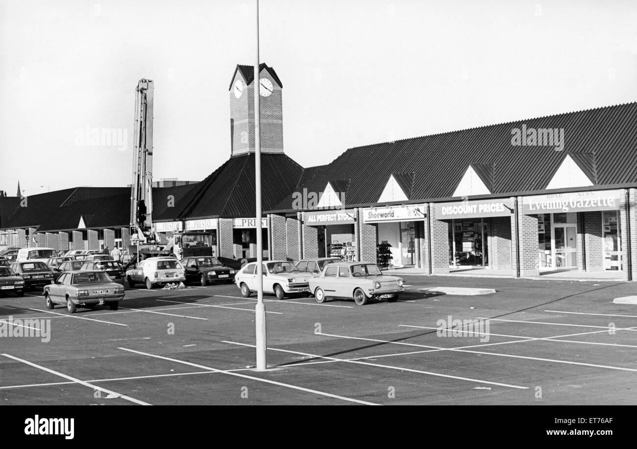 Chandlers Wharf, Stockton, 27 novembre 1985. Immagini Stock
