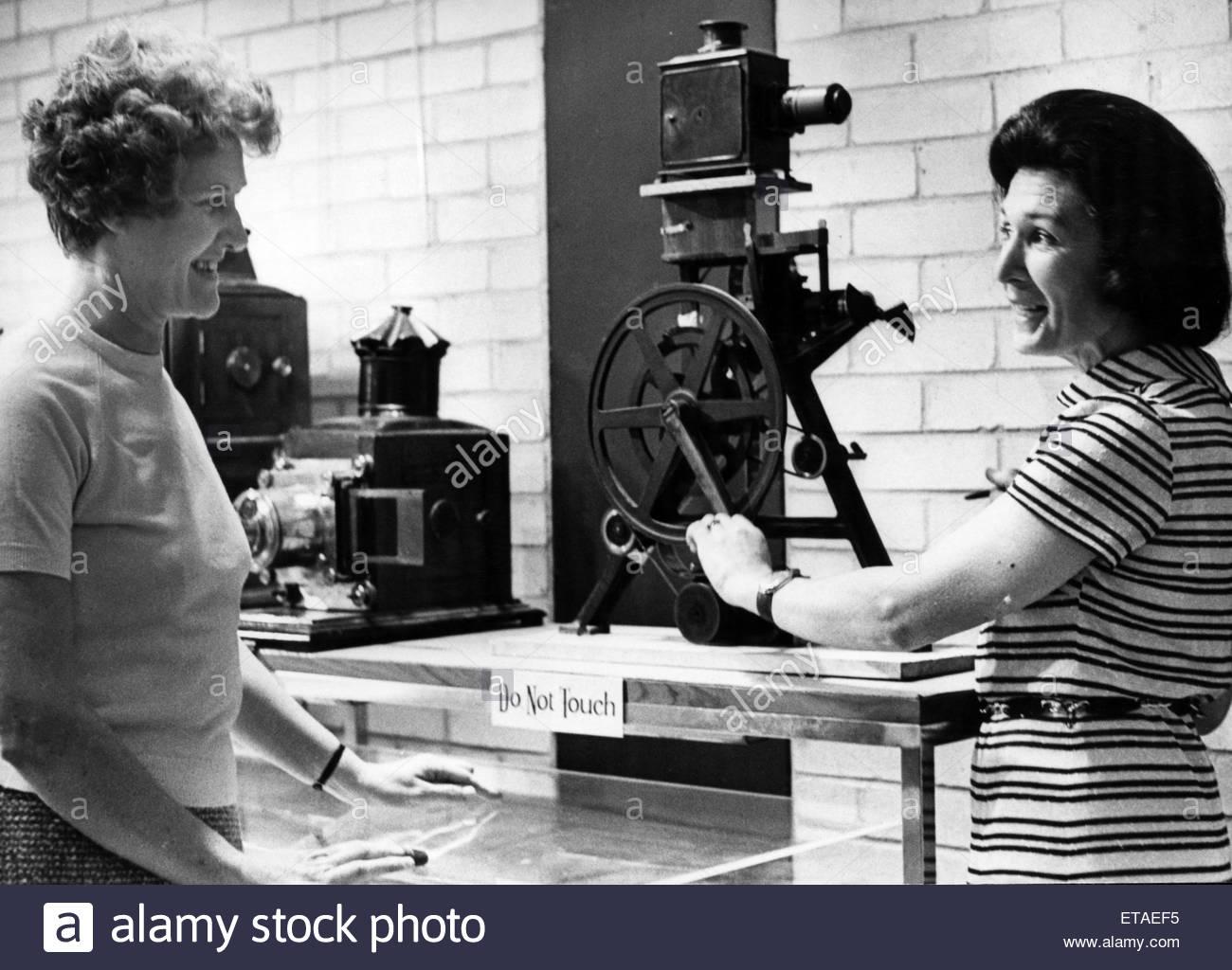 Vecchio cinema attrezzature, 13 ottobre 1972. Immagini Stock