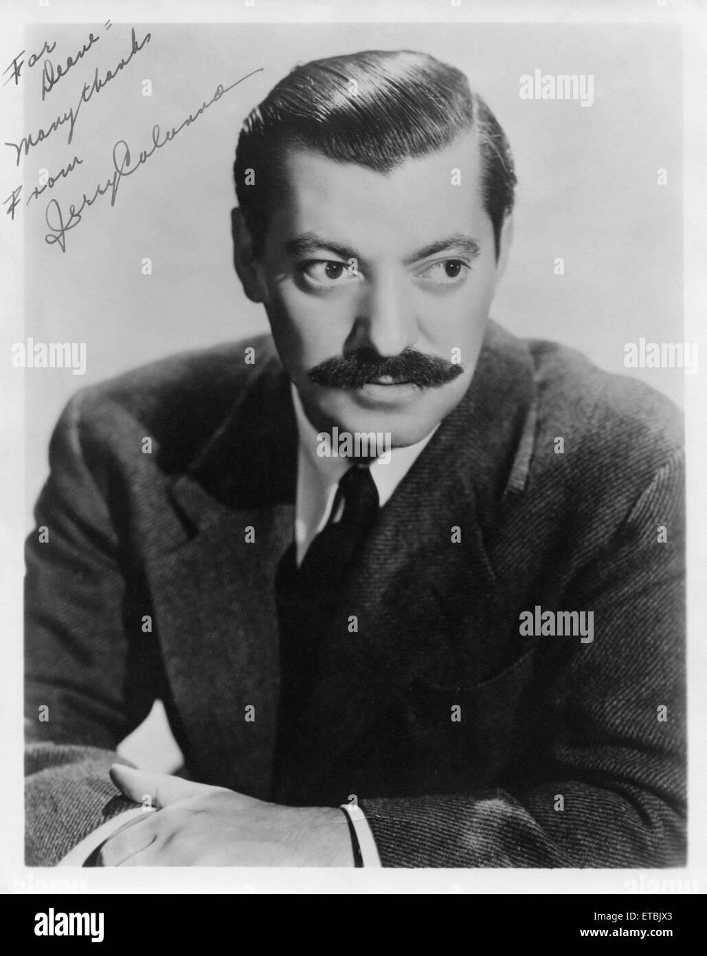 Jerry Colonna, Ritratto, circa 1940 Immagini Stock