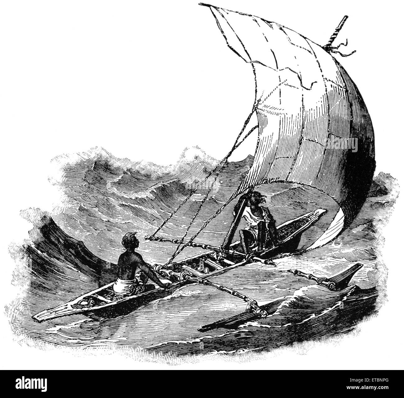 I cingalesi barca, Ceylon, 'Classico portafoglio di vettori primitivi', da Marshall M. Kirman, ferroviarie del mondo Foto Stock