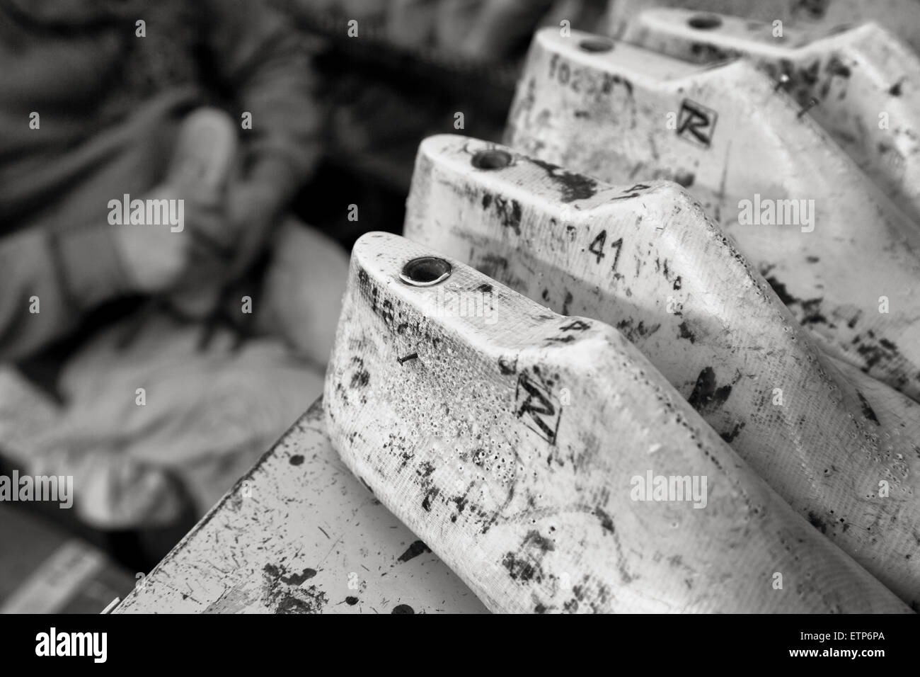 Napoli (Italia) - scarpe tradizionali di produzione in Matedei, Napoli Immagini Stock