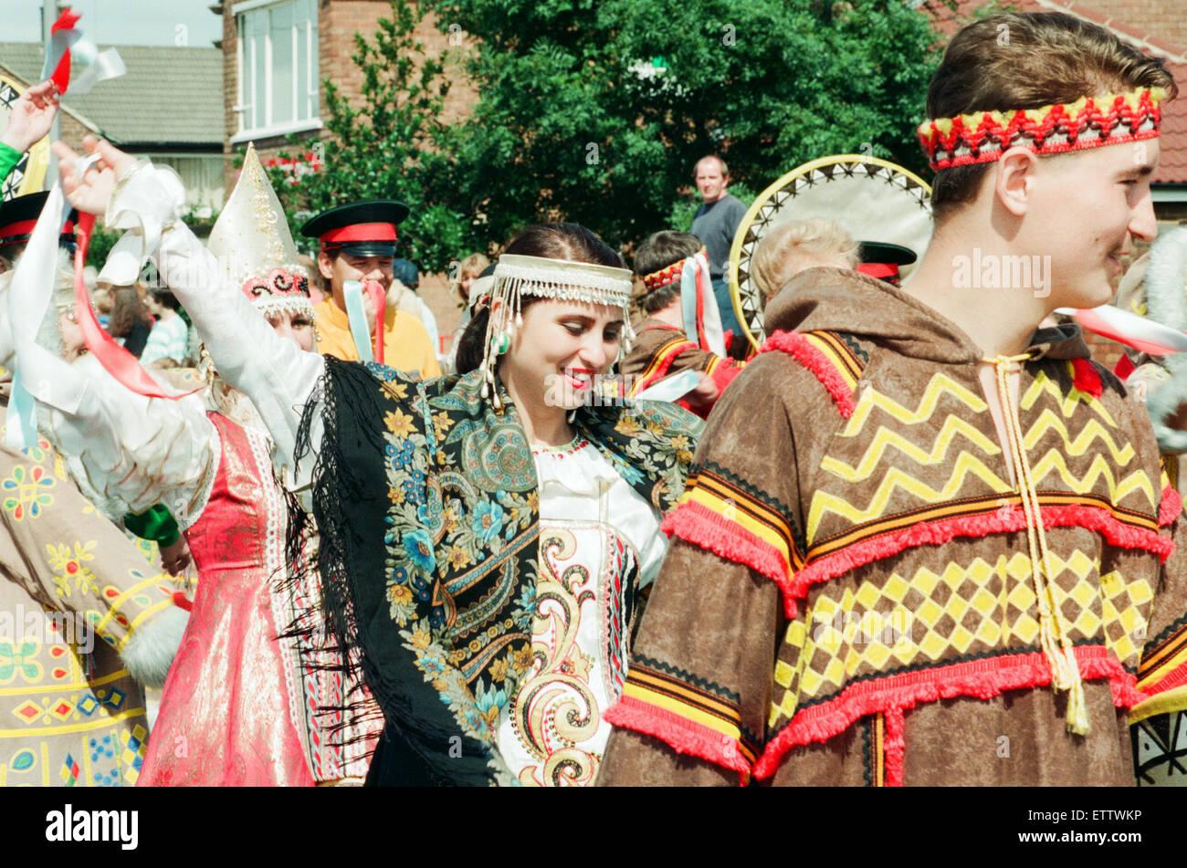 Billingham Folklore Festival 1994, Festival Internazionale del Folklore di danza del mondo. Il 16 agosto 1994. Immagini Stock