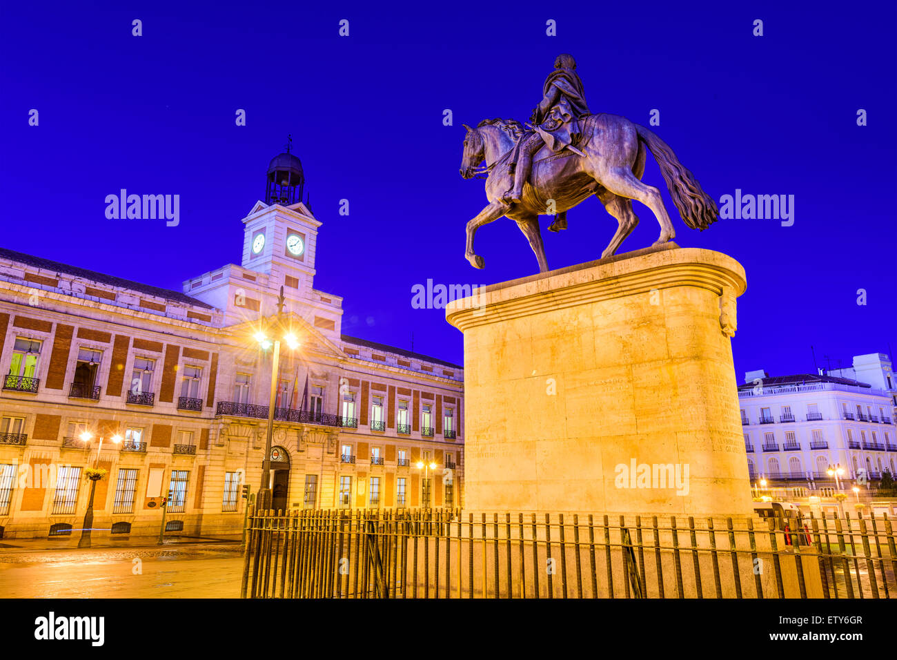 Madrid, Spagna a Puerta del Sol. Immagini Stock