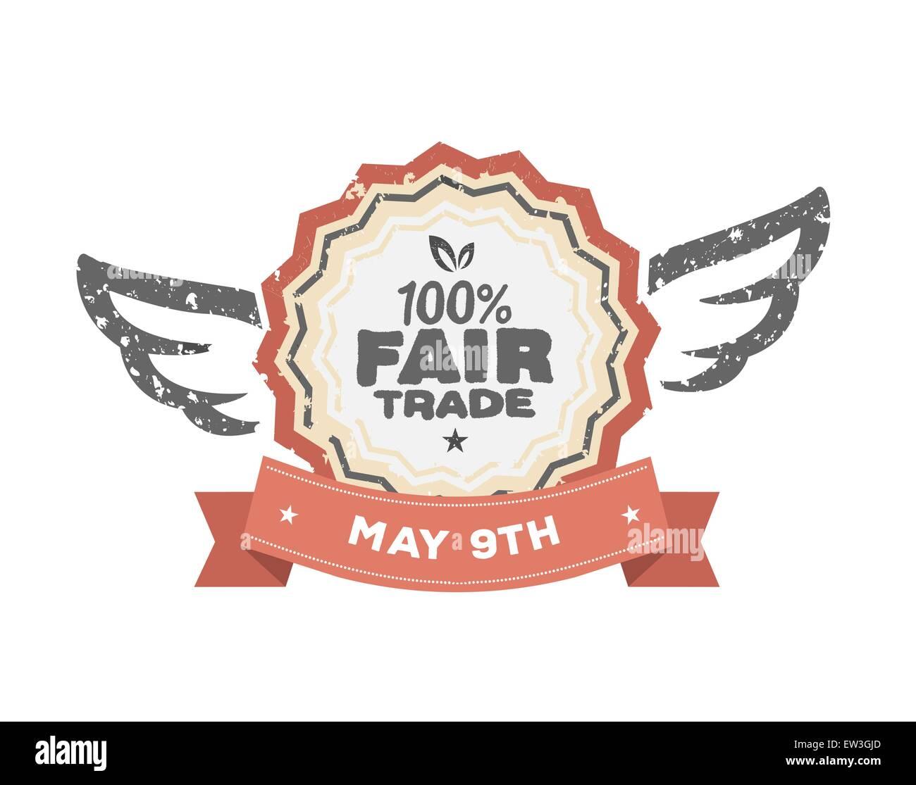 Generati digitalmente Fair Trade vettore di giorno Immagini Stock