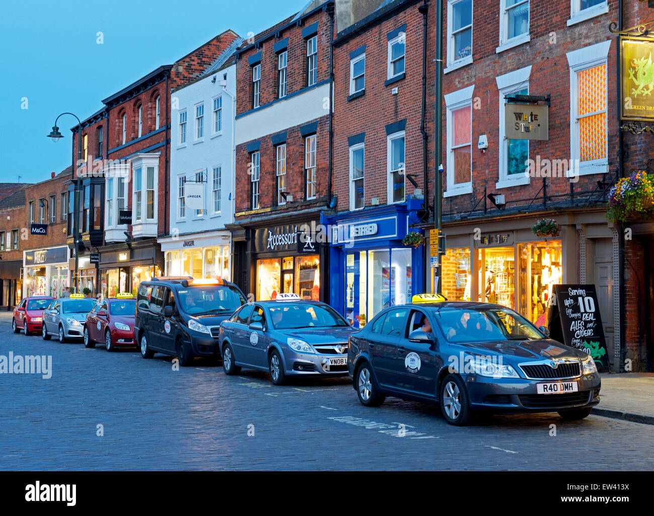 Taxi, Beverley, East Yorkshire, Inghilterra, Regno Unito Immagini Stock