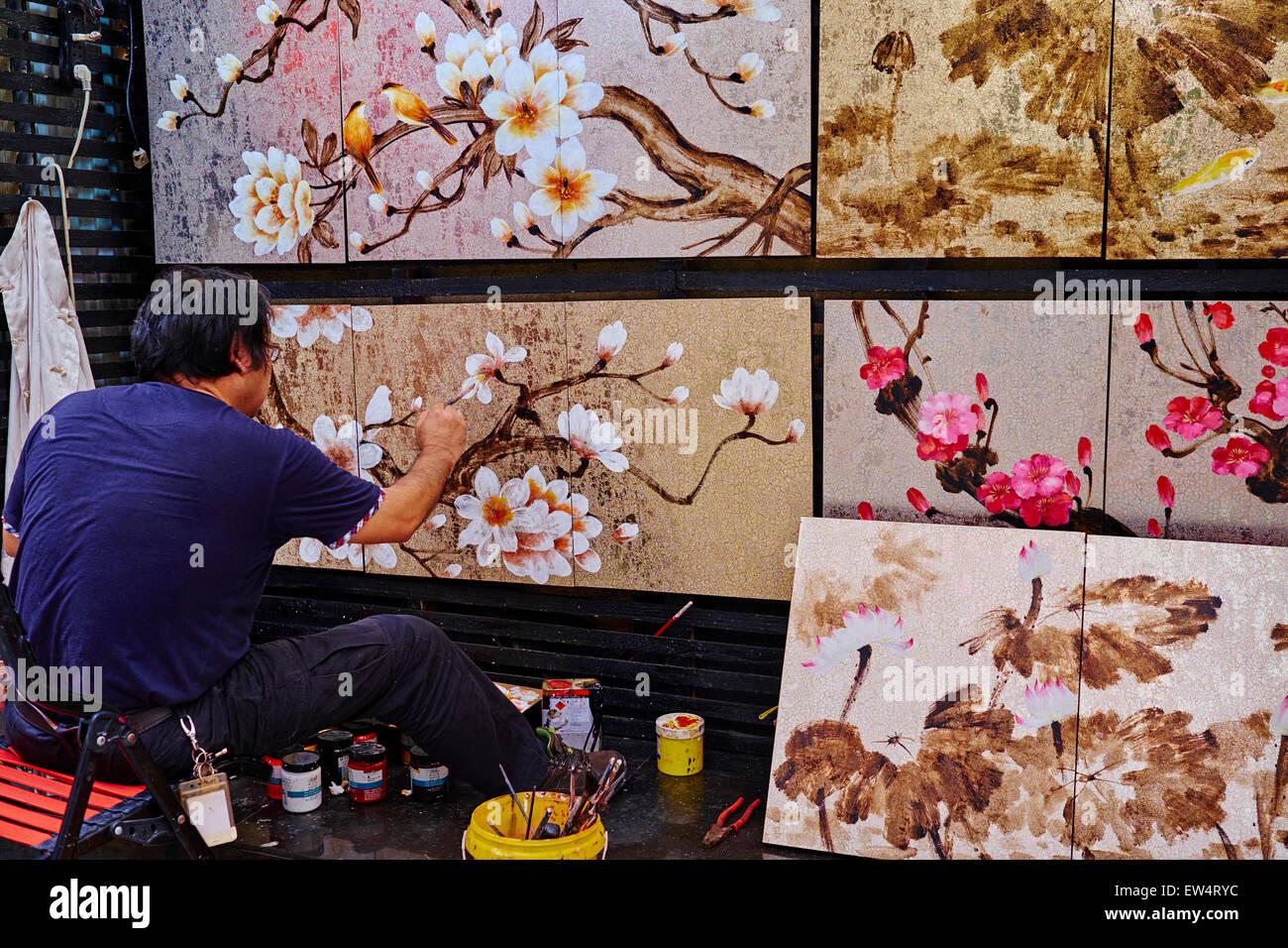 La Cina, nella provincia di Guangdong, Shenzhen, il Villaggio della Pittura ad Olio Dafen, Dafen Village è Immagini Stock