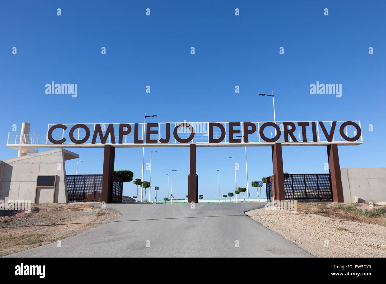 Complejo Deportivo - spagnolo per impianti sportivi Immagini Stock