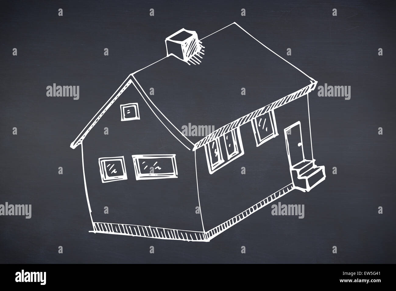 Immagine composita di disegnati a mano house Immagini Stock