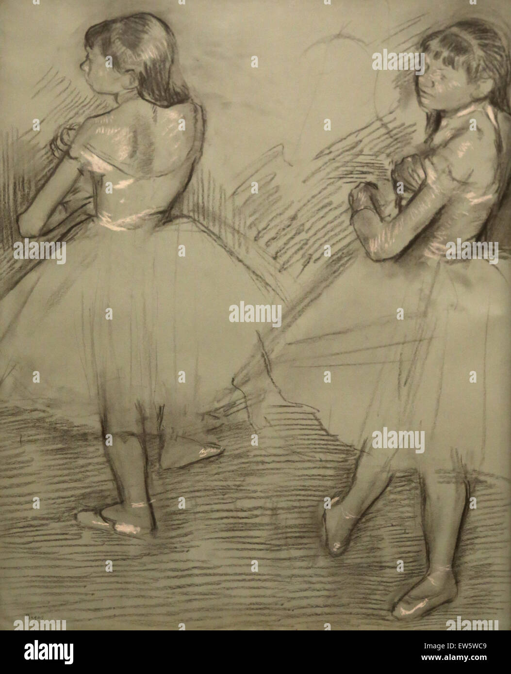 Edgar Degas (1834-1917). Pittore Francese. Due danzatori, ca. 1879, Metropolitan Museum of Art. New York. Stati Immagini Stock