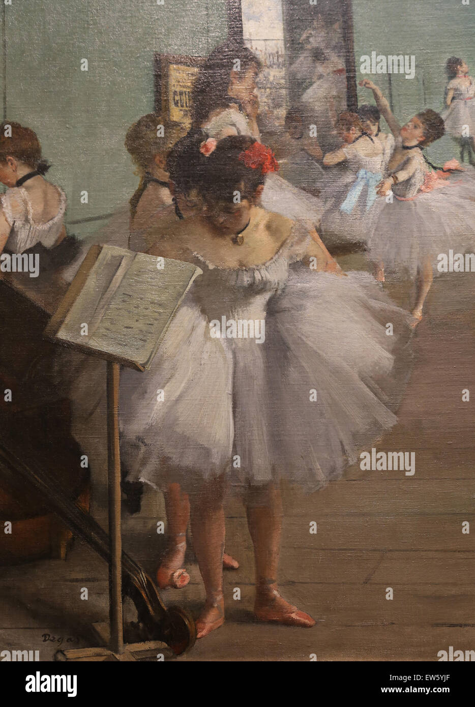 Edgar Degas (1834-1917). Pittore Francese. La classe di danza, 1874. Olio su tela. Metropolitan Museum of Art. Ny. Immagini Stock