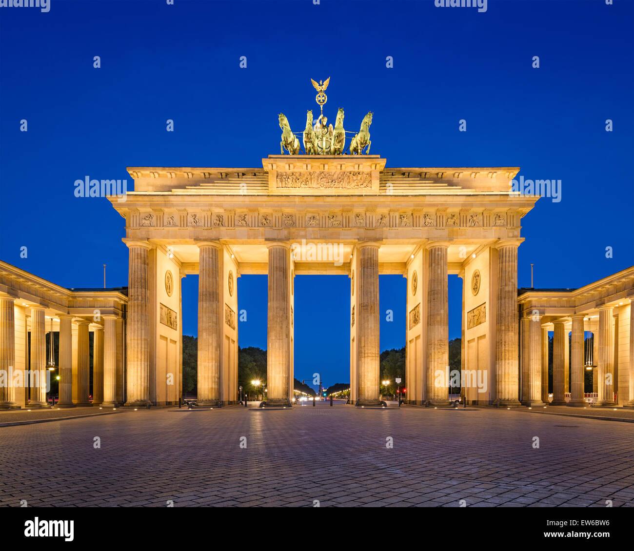 Berlino, Germania presso la Porta di Brandeburgo. Immagini Stock