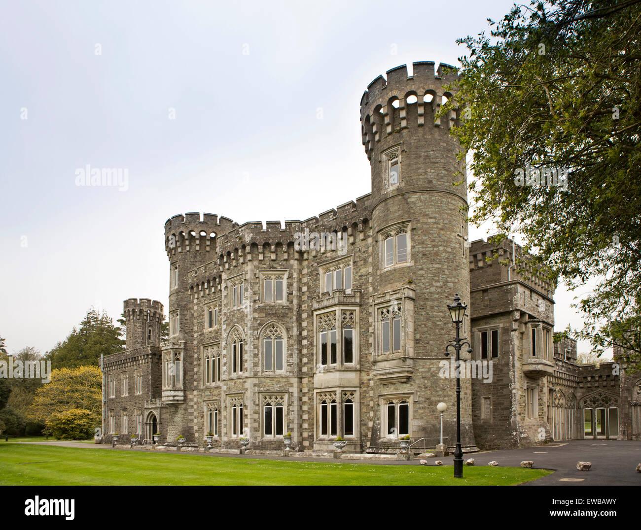 Irlanda, Co Wexford, Johnstown Castle, C xix secolo mansion progettato per la famiglia Grogan da Daniel Robertson Immagini Stock