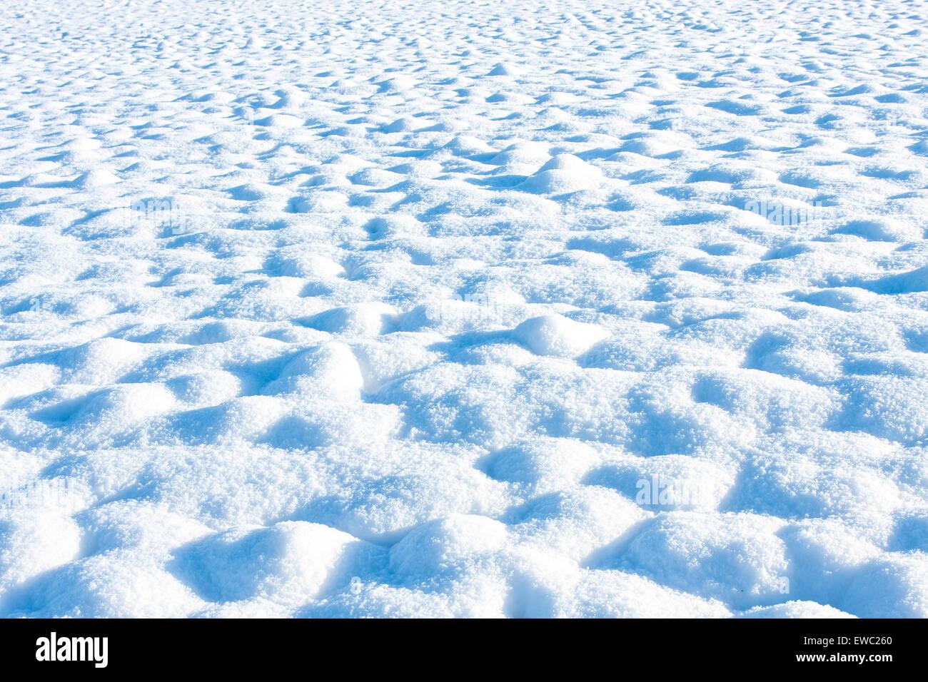 Neve in tonalità blu - texture di sfondo o Immagini Stock