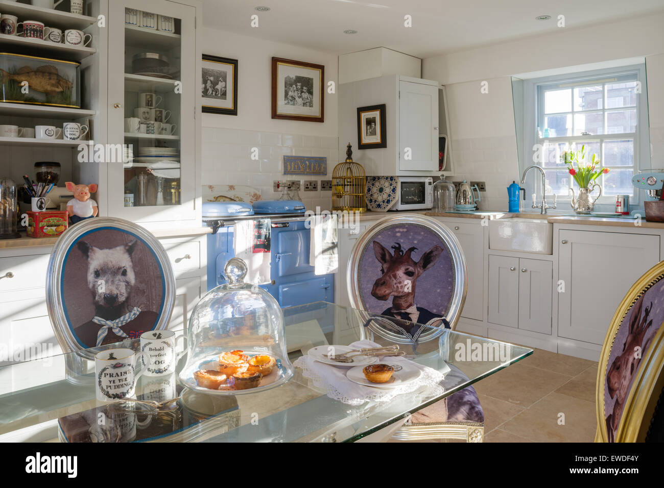 Stampe Da Cucina : Sedie da pranzo rivestita in cory di stampe visitorian attorno al