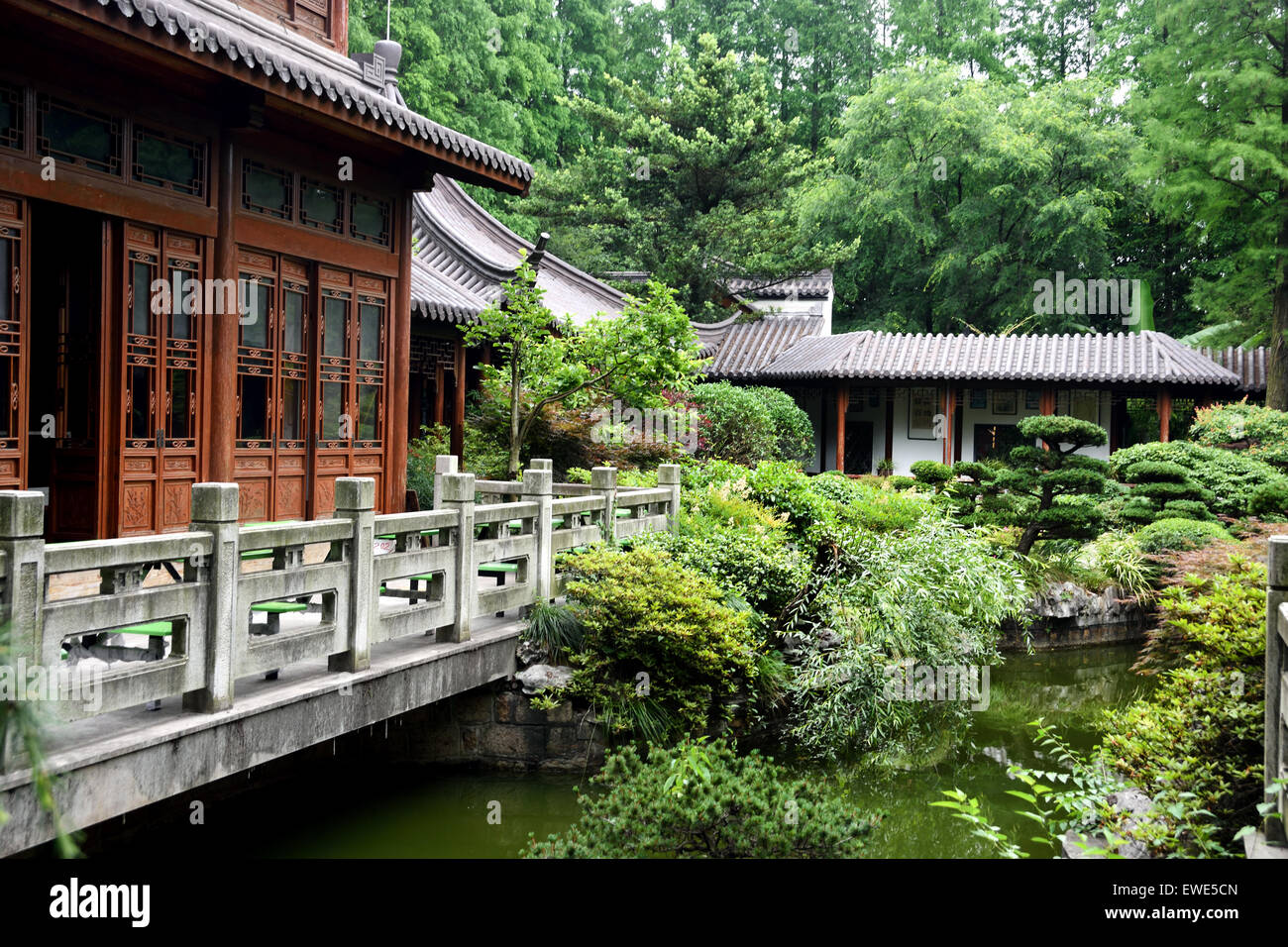 La Shanghai Giardino Botanico Xuhui District cinese Cina Immagini Stock