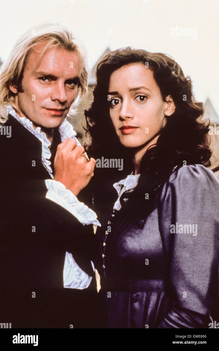 Sting, Jennifer Beals, la sposa, 1985 Immagini Stock