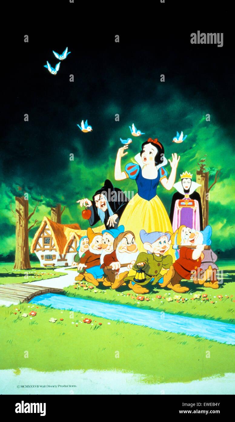 Biancaneve e i sette nani Immagini Stock