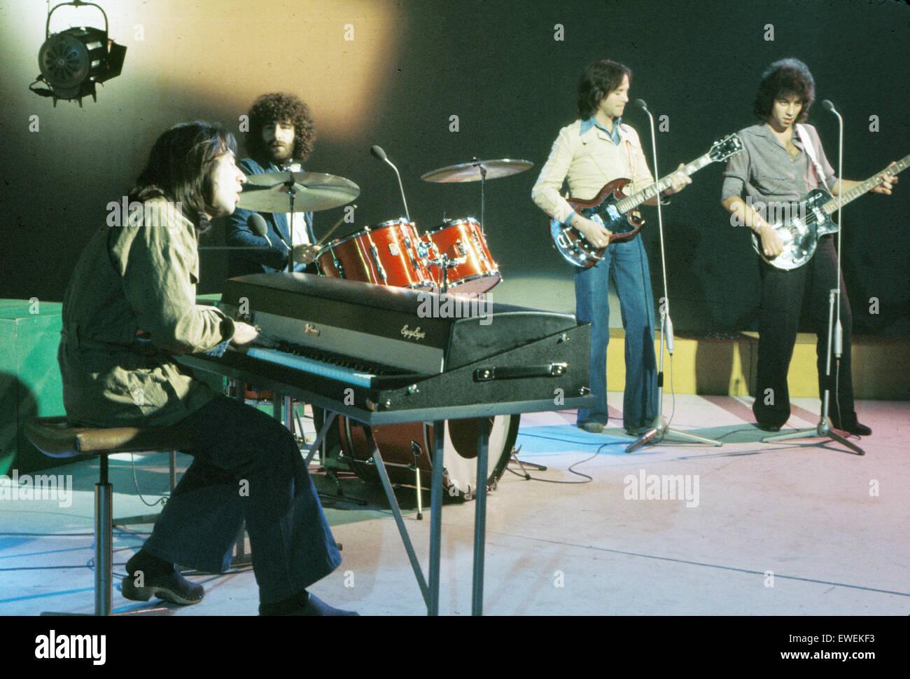 10 CC italiano del gruppo rock nel 1975. Immagini Stock