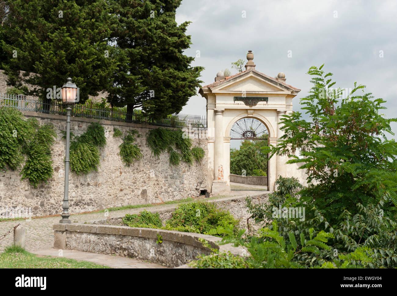 Porta del Santuario Giubilare delle Sette chiese a Monselice, veneto, Italia Immagini Stock