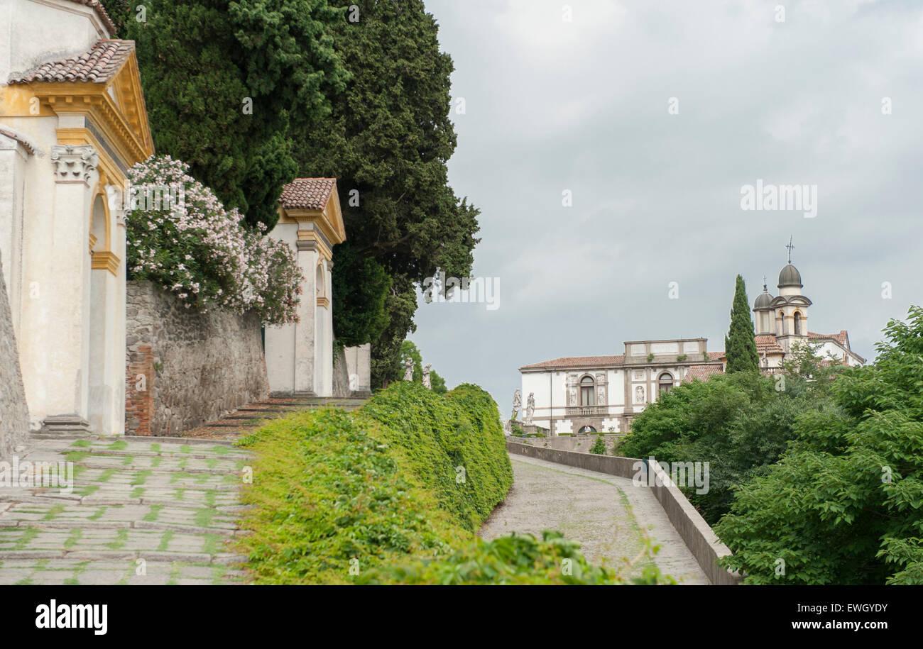 Santuario Giubilare delle sette chiese, il cammino di Santiago di sette cappelle a Monselice, veneto, Italia Immagini Stock