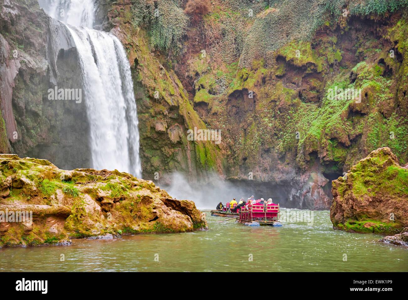 Escursione Cascate Ouzoud, Beni Mellal, Marocco, Africa Immagini Stock