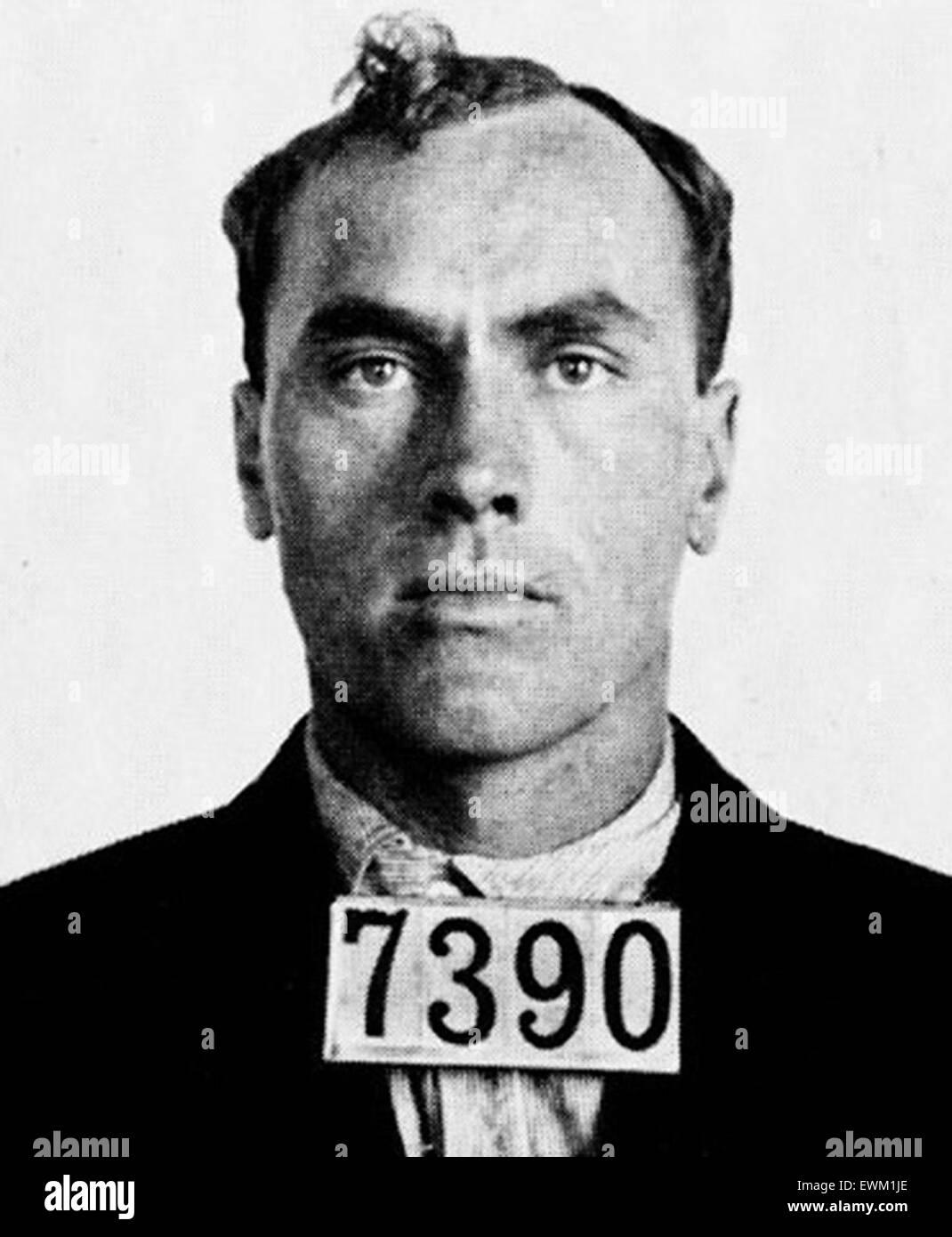 Carl Panzram, American serial killer, stupratore, incendiario e ladro. Immagini Stock