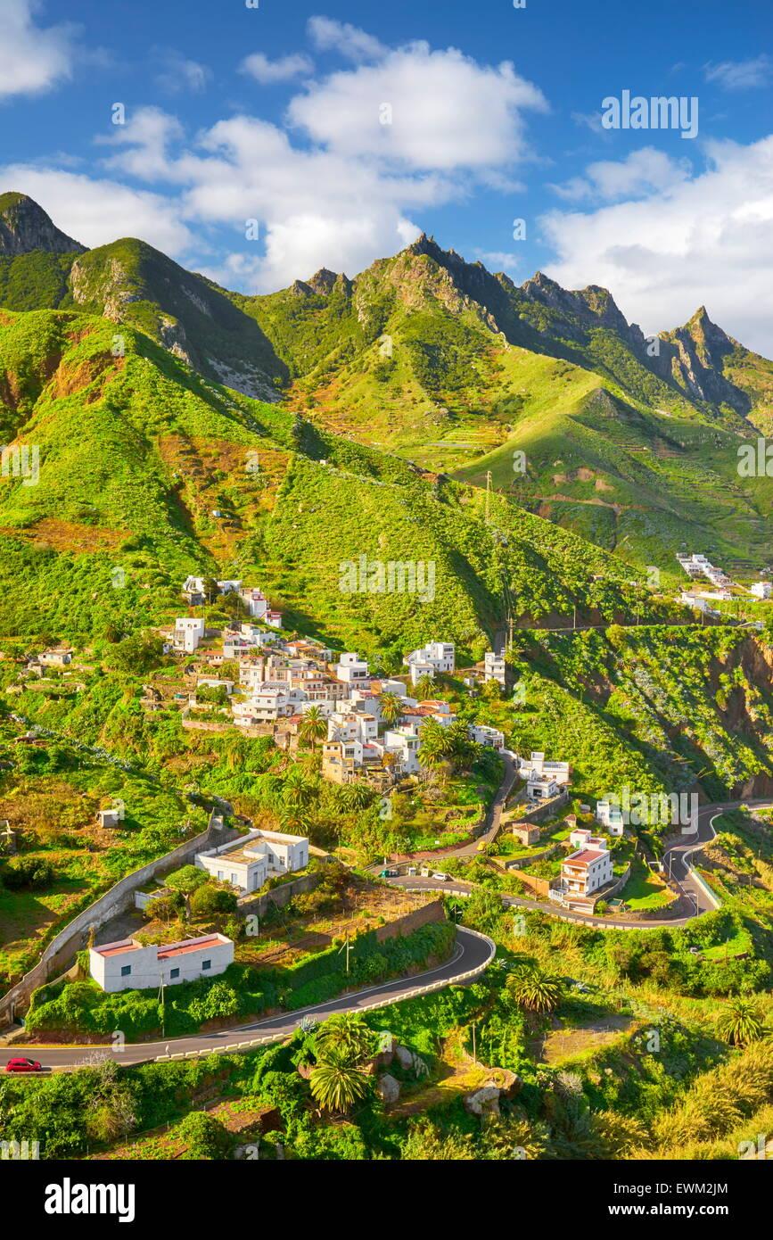 Villaggio Taganana, Tenerife, Isole Canarie, Spagna Immagini Stock