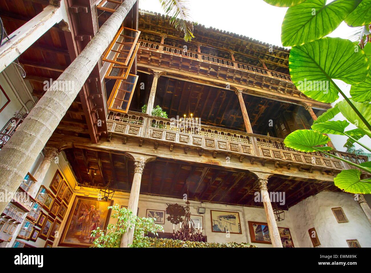Casa de los Balcones, La Orotava, Tenerife, Isole Canarie, Spagna Immagini Stock