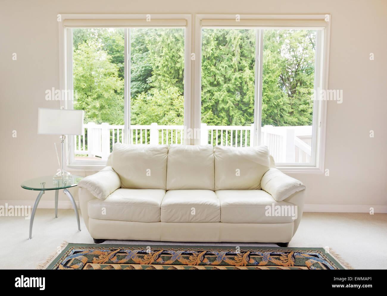 Pulire Divano In Pelle pulire la camera familiare con il bianco di divano in pelle