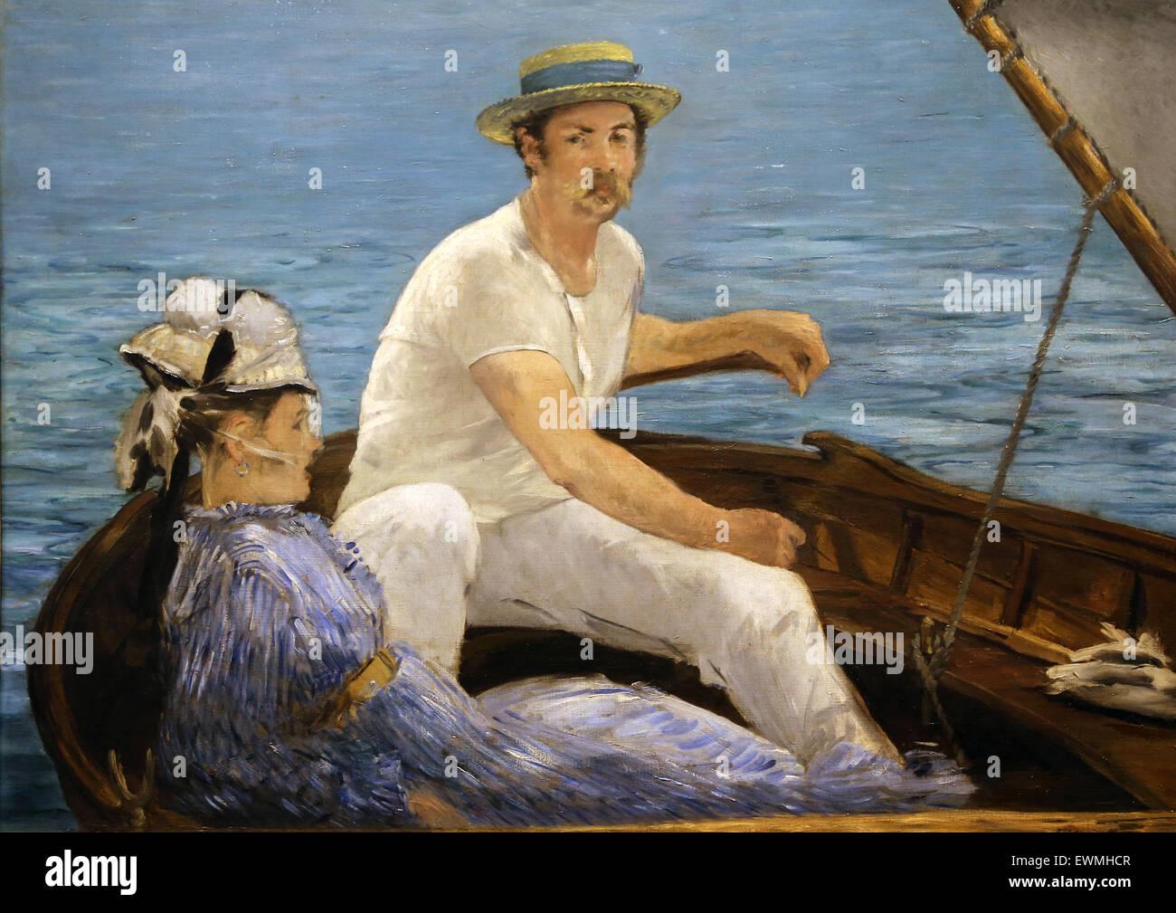 Edouard Manet (1832-1883). Pittore Francese. La nautica, 1874. Olio su tela. Metropolitan Museum of Art. Ny. Stati Immagini Stock