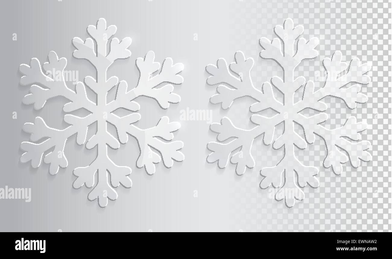 Trasparente come il vetro di fiocchi di neve. Natale illustrazione vettoriale EPS10. Immagini Stock