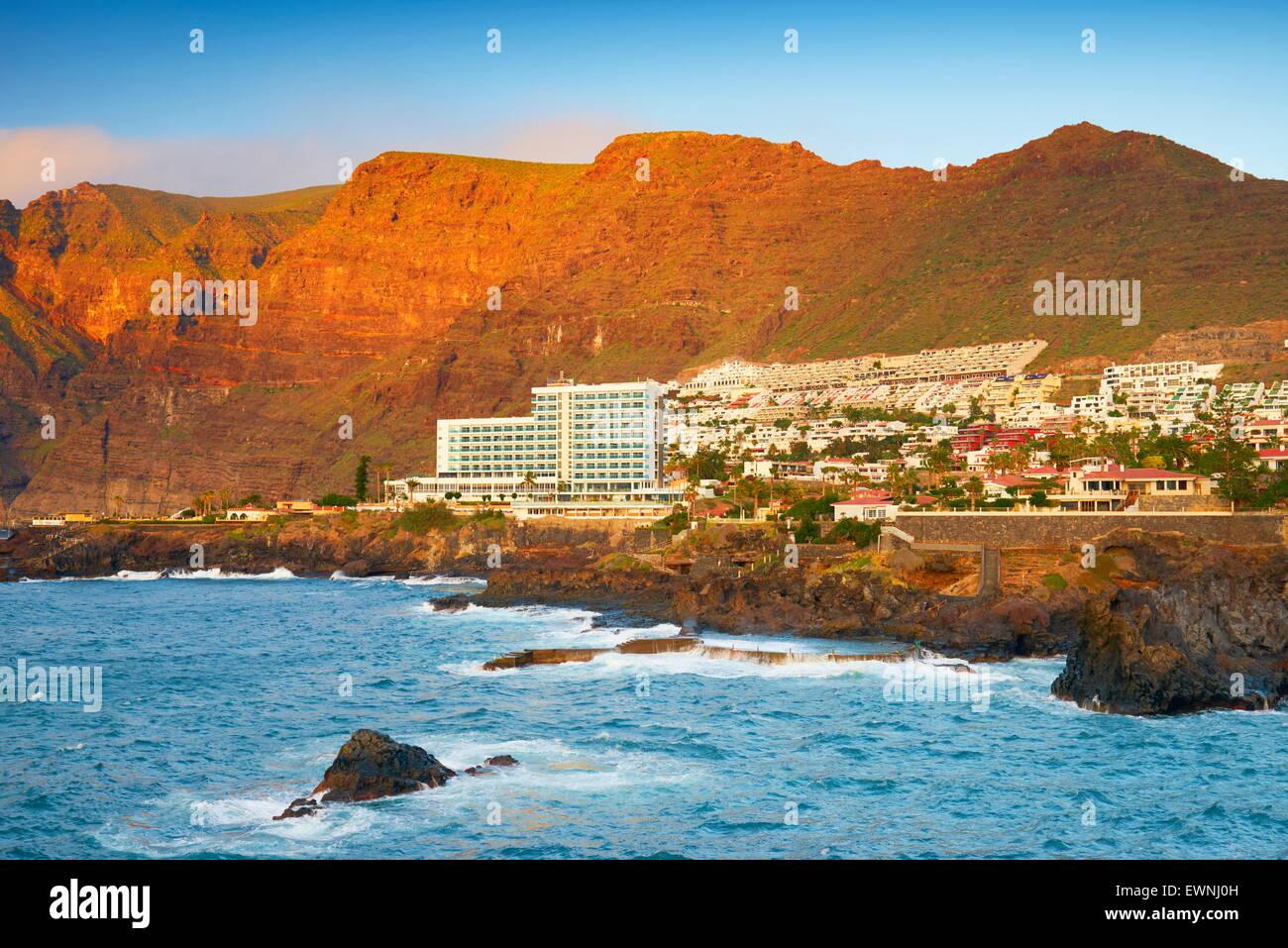 Los Gigantes Cliff, Tenerife, Isole Canarie, Spagna Immagini Stock